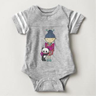 Sishu and bamboo baby bodysuit