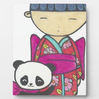 Sishu and bamboo plaque