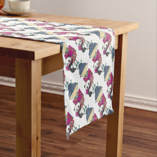 Sishu and bamboo short table runner