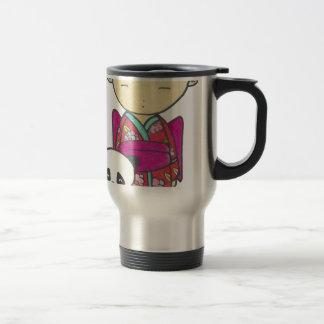 Sishu and bamboo travel mug