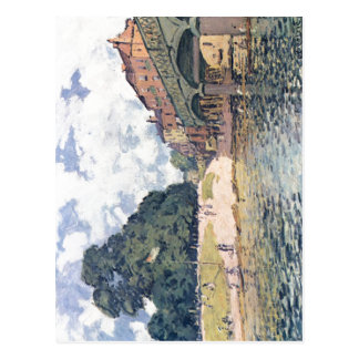 Sisley, Alfred Br?cke von Hampton Court 1874 Techn Postcard