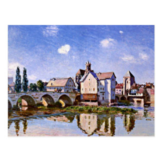Sisley - The Moret Bridge in the Sunlight Postcard