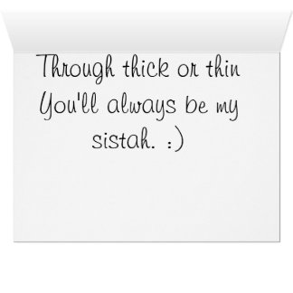 Sistahhood and We are powerful together Greeting Card