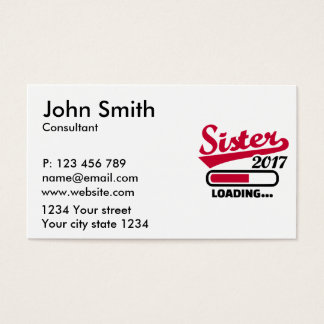 Sister 2017 business card