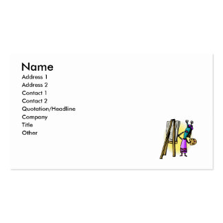 Sister Alien Painting Business Card Template
