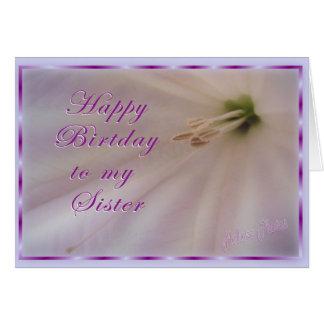 Sister Bday/Flower & ribbon Greeting Card