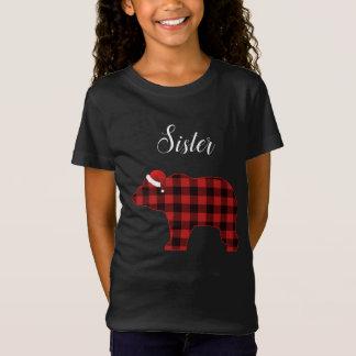 Sister Bear Buffalo Family Chrismtas Pajama T-Shirt
