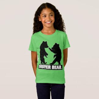 Sister Bear Girls' Fine Jersey Modern T-Shirt