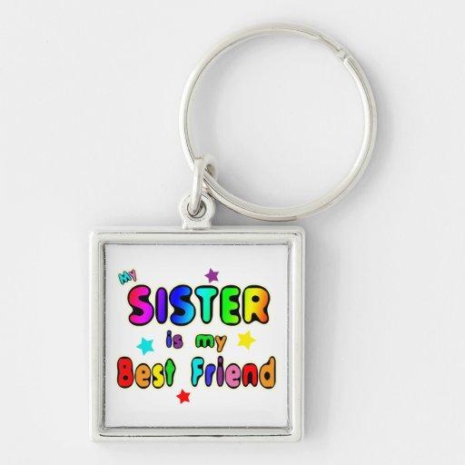 Sister Best Friend Keychain