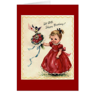 Sister Birthday Greeting Card