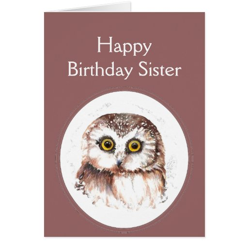 Sister Birthday Whooo Loves You, Cute Owl Humor Card