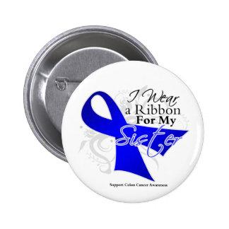 Sister Blue Ribbon - Colon Cancer 2 Inch Round Button
