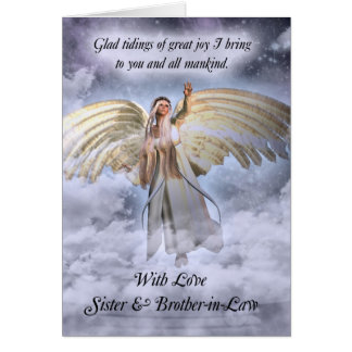 Sister & Brother-in-Law Angel Christmas Card Relig
