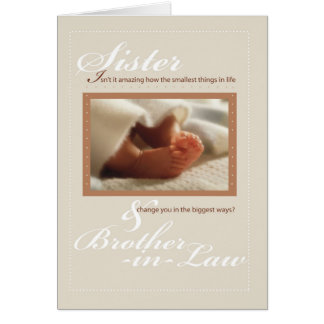 Sister & Brother-in-Law Congratulations New Baby Card