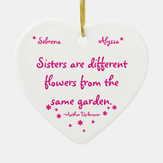 Sister Ceramic Ornament