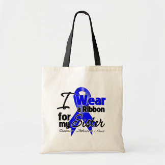 Sister - Colon Cancer Ribbon Budget Tote Bag