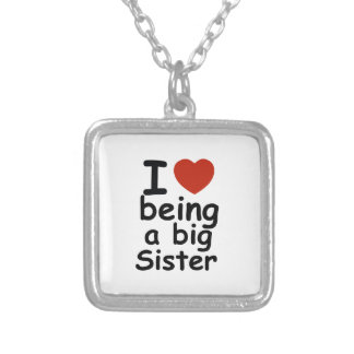 sister design silver plated necklace