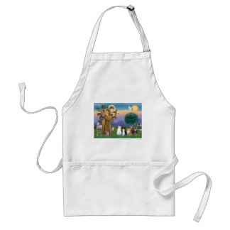 Sister Frances Blessing 5 cats Standard Apron