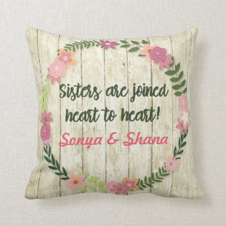 Sister Gift with Quote Pillow Personalized Present