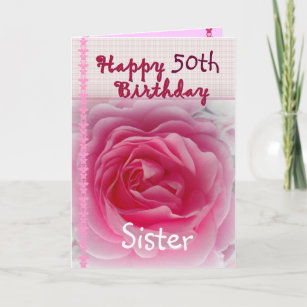 Happy 50th Birthday Sister Gifts On Zazzle CA