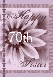 Purple 70th Birthday Cards