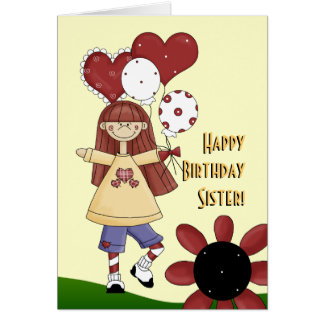 Sister Happy Birthday card