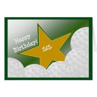 Sister - Happy Birthday Golf Loving Sis! Card