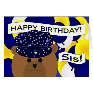 Sister - Happy Birthday Navy Active Duty! Card