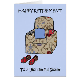 Sister happy retirement card