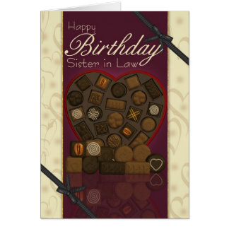 Sister in Law Birthday Card - Chocolates