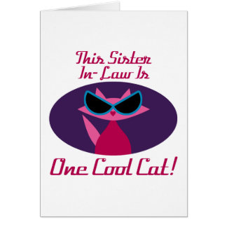 Sister-In-Law Cool Cat Card