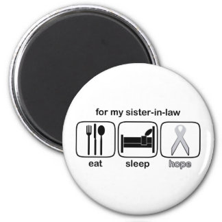 Sister-in-law Eat Sleep Hope - Lung Cancer 2 Inch Round Magnet