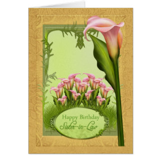 Sister-in-Law Lily Birthday Greeting Card