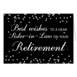 Sister-in-Law, Retirement Congratulations Black Card