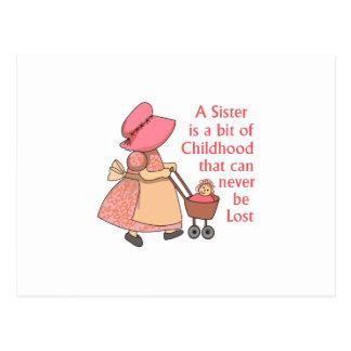 SISTER IS A BIT OF CHILDHOOD POSTCARD