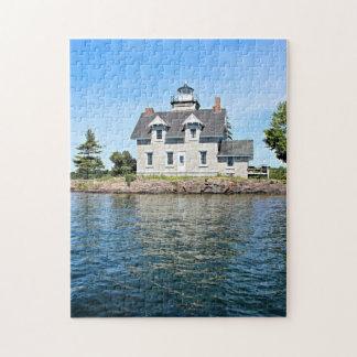 Sister Islands Lighthouse, 1,000 Islands New York Jigsaw Puzzle