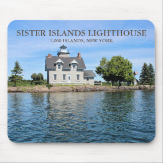 Sister Islands Lighthouse, New York Mousepad