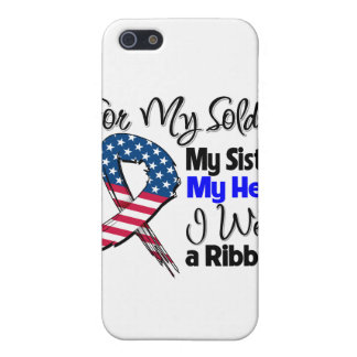 Sister - My Soldier, My Hero Patriotic Ribbon iPhone 5/5S Cases