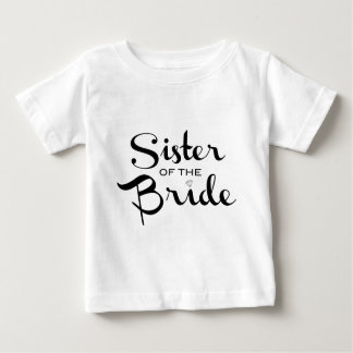 Sister of Bride Black on White Tee Shirts