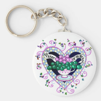 Sister of My Heart Best Friend Keychain