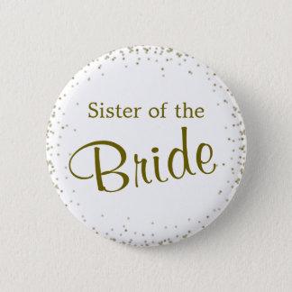 Sister of the Bride Confetti 2 Inch Round Button