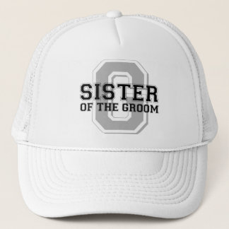 Sister of the Groom Cheer Trucker Hat