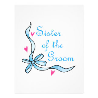 SISTER OF THE GROOM CUSTOMIZED LETTERHEAD