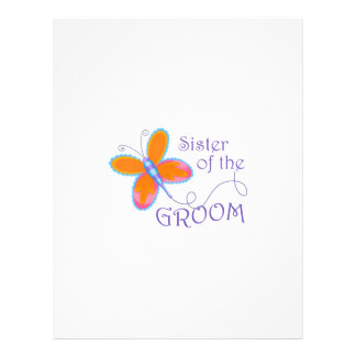 SISTER OF THE GROOM PERSONALIZED LETTERHEAD