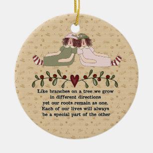 poem round ceramic ornaments christmas ornaments zazzle ca