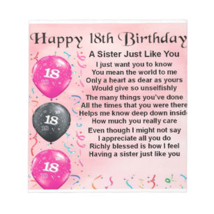 Sisters 18th Birthday Gifts On Zazzle CA