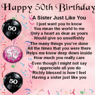 Sisters 50th Birthday Gifts On Zazzle CA