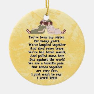 Sister Poem ornament