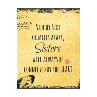Sister Quote Canvas Print