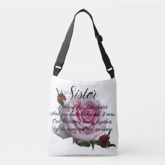 SISTER QUOTE CROSSBODY BAG